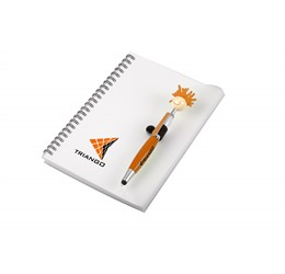 Moptopper A5 Notebook And Pen  Orange Only