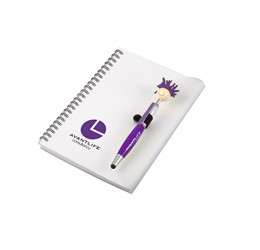 Moptopper A5 Notebook And Pen  Purple Only