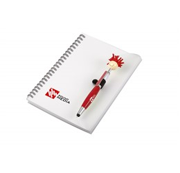 Moptopper A5 Notebook And Pen  Red Only
