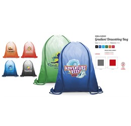 Gradient 210D Drawstring Bag