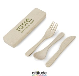 Devour Wheat Straw Cutlery set