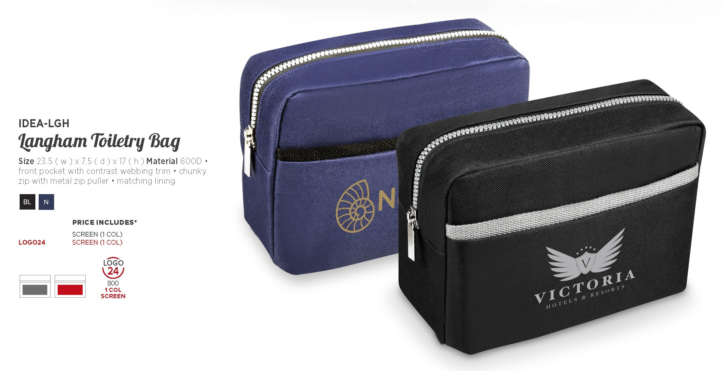 Product: Langham Toiletry Bag